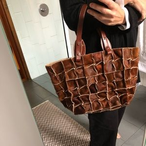 Jamin Puech haircalf patchwork tote